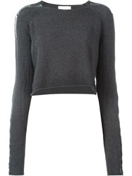 Lost And Found Rooms Cropped Jumper Grey