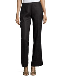 Neiman Marcus Wide Leg Linen Pants Black