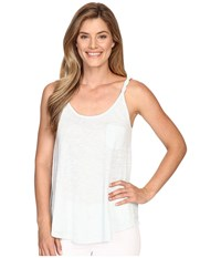 Lilla P Flame Gauze Swing Tank Top Glass Women's Sleeveless Clear