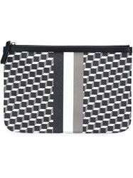 Pierre Hardy Cube Stripe Design Clutch Black