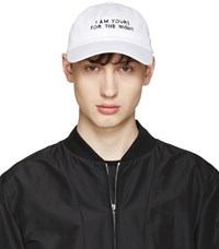 Nasaseaons Ssense Exclusive White 'I Am Yours' Cap
