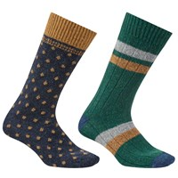 John Lewis Made In Italy Wool Silk Socks Pack Of 2 Navy