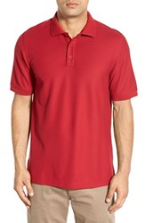 Nordstrom Men's Big And Tall Men's Shop 'Classic' Regular Fit Pique Polo Red Rio