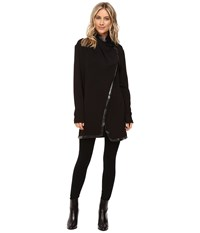 Catherine Malandrino Long Sleeve Toggle Closure Wrap Blackbird Women's Clothing
