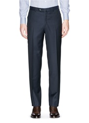 Isaia Wool Pants Blue