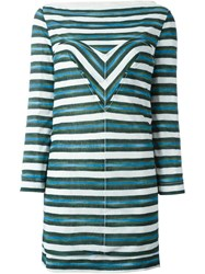 Louis Vuitton Vintage Striped Dress Green