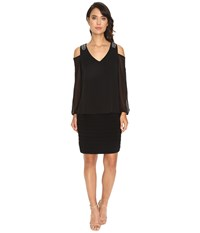 Rsvp Bradford Cold Shoulder Dress Black Women's Dress