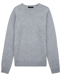 Jaeger Lambswool Donegal Sweater Light Grey