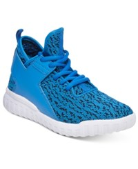 Wanted Hiphop Lace Up Flyknit Sneakers Women's Shoes Blue