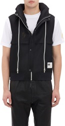 Final Home Mesh Hooded Vest Black Size L