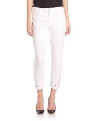 Elie Tahari Azella Jeans Optic White