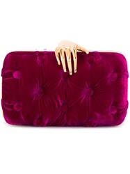 Benedetta Bruzziches 'Carmen With Hand' Clutch Bag Pink And Purple