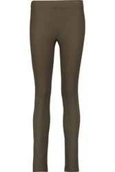 Joseph Stretch Gabardine Leggings Army Green