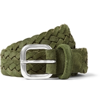 Anderson's Green 3Cm Woven Suede Belt