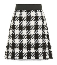 Dolce And Gabbana Tweed Houndstooth Skirt Female Black