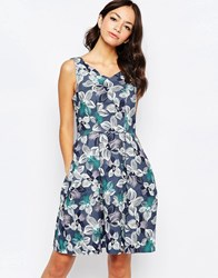 Closet Floral V Neck Skater Dress Multi