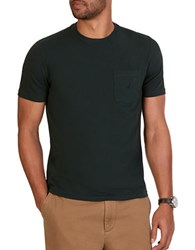 Nautica Cotton Stretch Crewneck Tee Green
