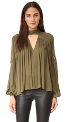 Ministry Of Style Gesture Blouse Khaki