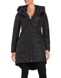 French Connection Hooded Puffer Coat Black