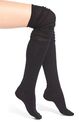 Women's Arthur George By R. Kardashian Slouchy Over The Knee Socks Black