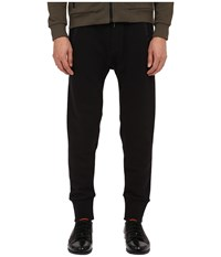 The Kooples Mix Cotton Fleece Nylon Pants Black Men's Casual Pants