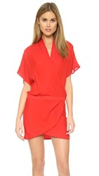 Mason By Michelle Mason Wrap Mini Dress Red