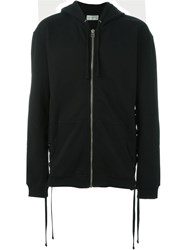 Faith Connexion Lace Up Detail Hooded Sweater Black
