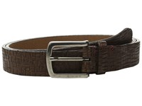 Torino Leather Co. Italian Vintage Laser Etched Leather Brown Men's Belts