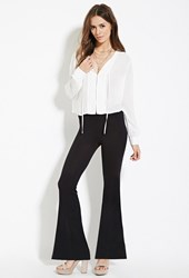 Forever 21 Contemporary Flare Pants Black