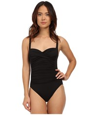 Lablanca Island Goddess Over The Shoulder Sweetheart Mio One Piece Black Women's Swimsuits One Piece