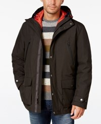 London Fog Men's 3 In 1 Hooded Coat Olive Navy