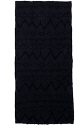 Baja East Cashmere Ikat Shawl In Black