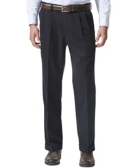 Dockers D4 Relaxed Fit Comfort Khaki Pleated Pants Dockers Navy