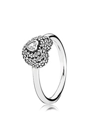 Pandora Design Pandora Ring In My Heart Sterling Silver And Cubic Zirconia