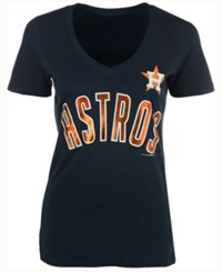 5Th And Ocean Women's Houston Astros Outfield T Shirt Navy