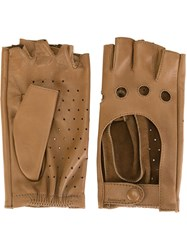 Zanellato Perforated Fingerless Gloves Nude And Neutrals