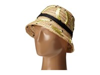 Kate Spade That's Bananas Hand Embroidered Cloche Sun Hat Natural Traditional Hats Beige