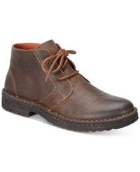 Born Men's Limon Plain Toe Boots Men's Shoes Dark Brown