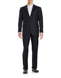 Hart Schaffner Marx Two Button Wool Suit Navy