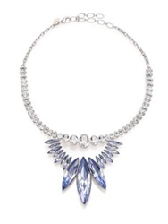 Ca And Lou Alexa Crystal Bib Necklace Silver Blue