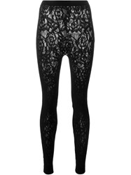 Mcq By Alexander Mcqueen Mcq Alexander Mcqueen Floral Embroidered Lace Leggings Black