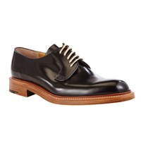John Lewis And Co. Made In England Leather Derby Shoes Black