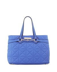 Catherine Catherine Malandrino Sienna Quilted Faux Leather Satchel Bag Royal Blue