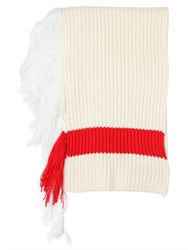 J.W.Anderson Ribbed Wool Blend Scarf With Fringe