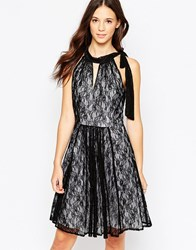 Traffic People Never Ending Story Halter Dress With Pleated Skirt Black