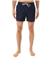 Lacoste Taffeta Swimming Trunk Navy Blue White Men's Swimsuits One Piece