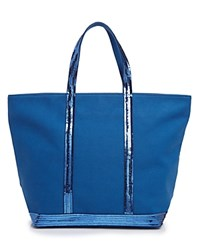 Vanessa Bruno Sequin Canvas Tote Bleu Roie Royal Blue