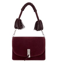 Altuzarra Ghianda Suede Shoulder Bag Red