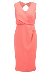 Coast Petite Claudette Cocktail Dress Party Dress Coral