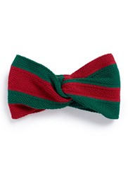 Gucci Web Stripe Cotton Knot Headband Multi Colour